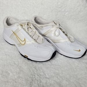 Nike FCS White Ivory and Gold Shoes
